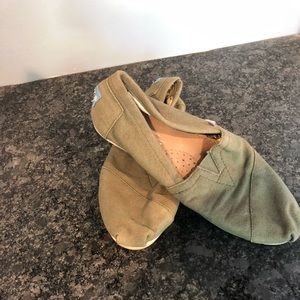 Toms Shoes - Army green toms